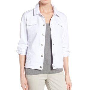 Eileen Fisher Garment Dyed Denim Trucker Jacket M